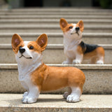 Welsh Corgi Resin Figurine 26*28*18CM