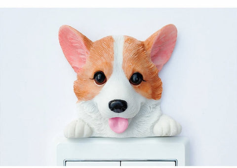 Corgi Stickers Wall