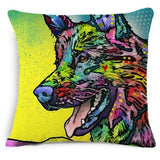 43x43CM Colorful Corgi and Friends Pillow Case