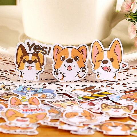 Pack Of 33pcs Corgi Stickers (Unique)