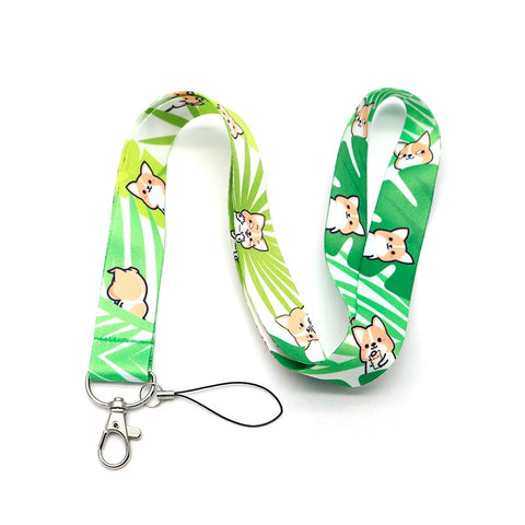 Corgi Ribbon Lanyard For Keychain ID Card Pass Mobile Phone