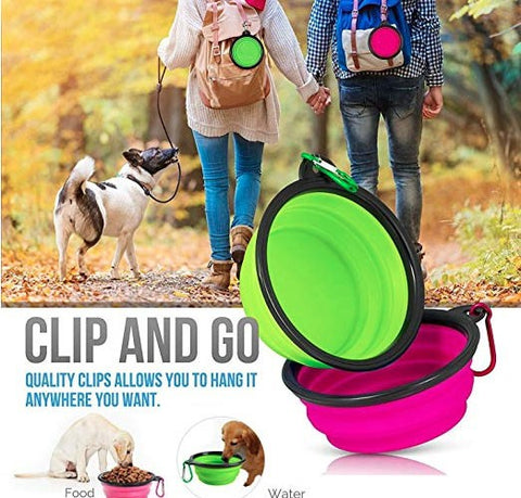 Set of 3 Collapsible Dog Bowls