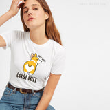Corgi Butt Cotton T-shirt Women All Size Avaliable