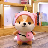 25cm 4 Styles Cute Kawaii Corgi Plush Doll