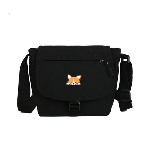 Corgi Crossbody Pack 2 Colors, Schoolbag and Handbags