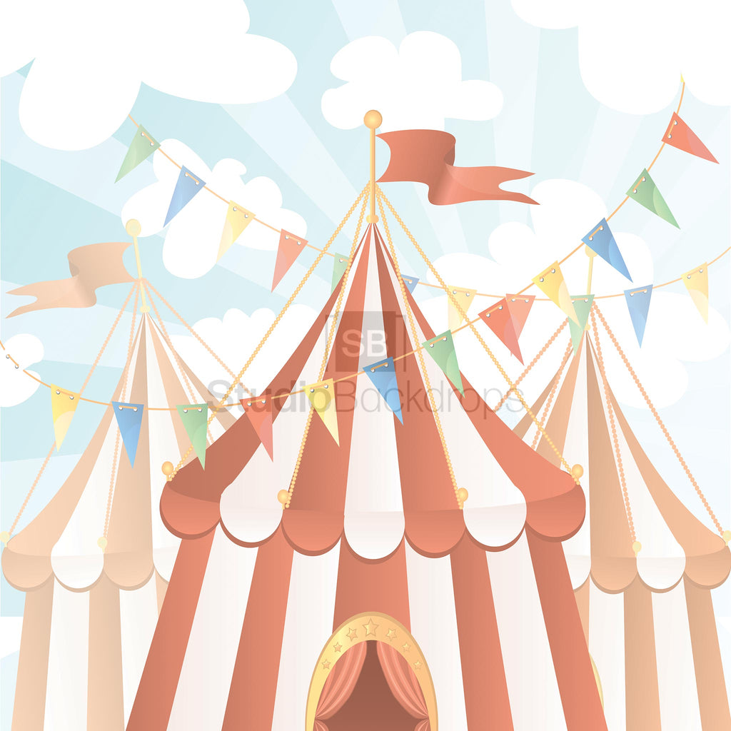 Circus Tent Photography Backdrop