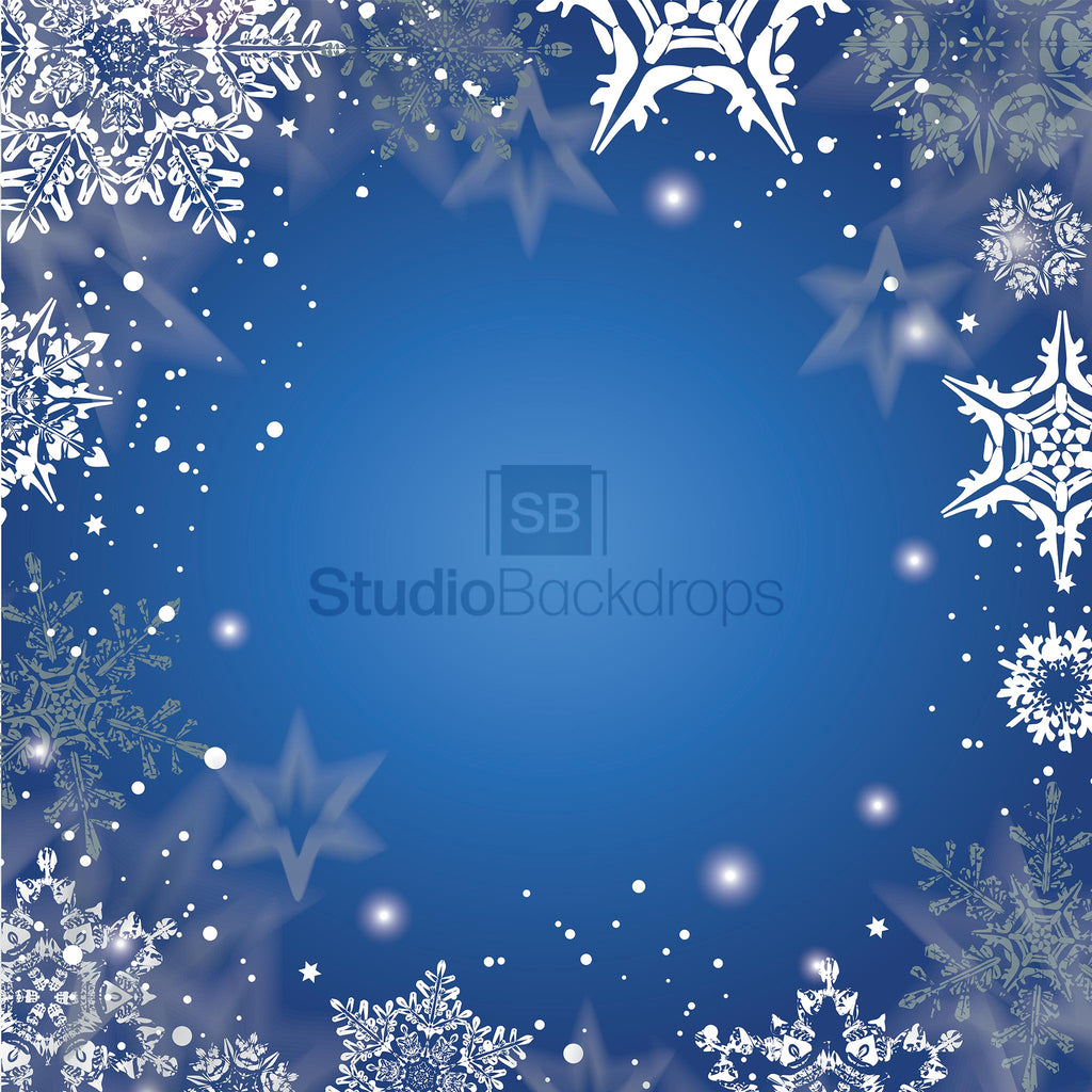 Snowflake Border Photography Backdrop