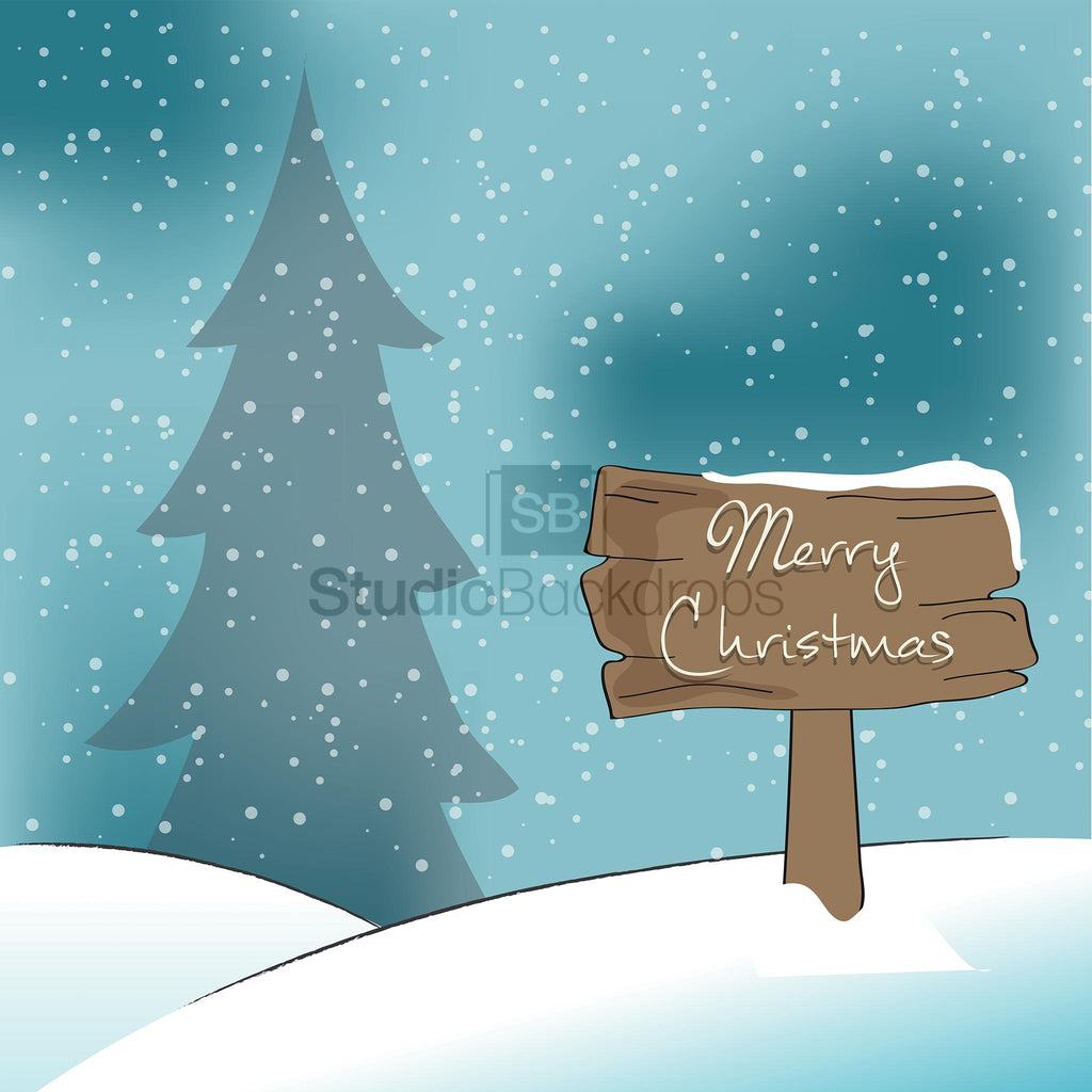Christmas Sign Photography Backdrop