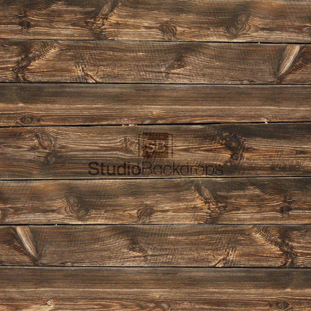 Dark Wooden Floorboards Photography Backdrop