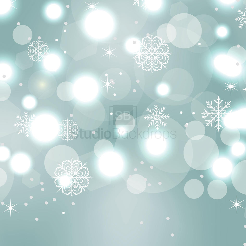 Snowflake Bokeh Photography Backdrop
