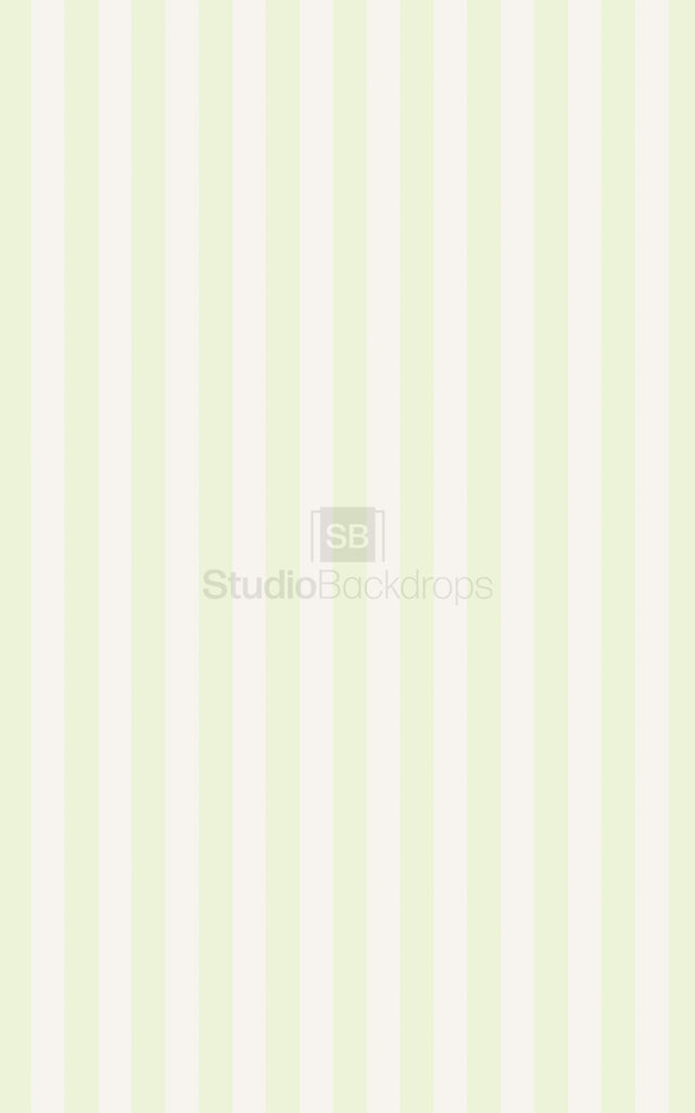 Green Cream Stripe Photography Backdrop