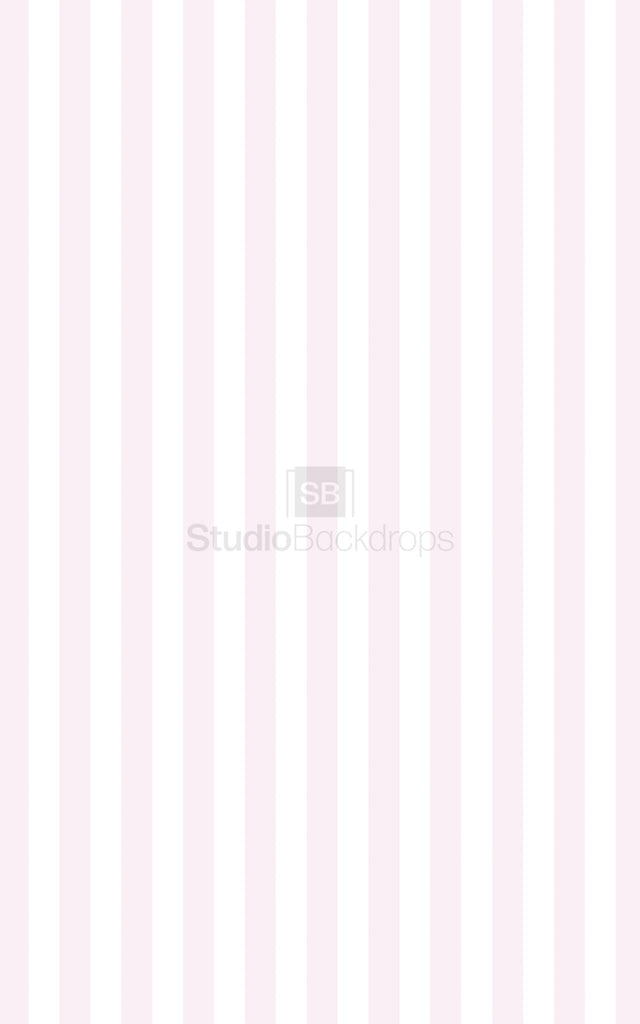 Pink White Stripe Photography Backdrop