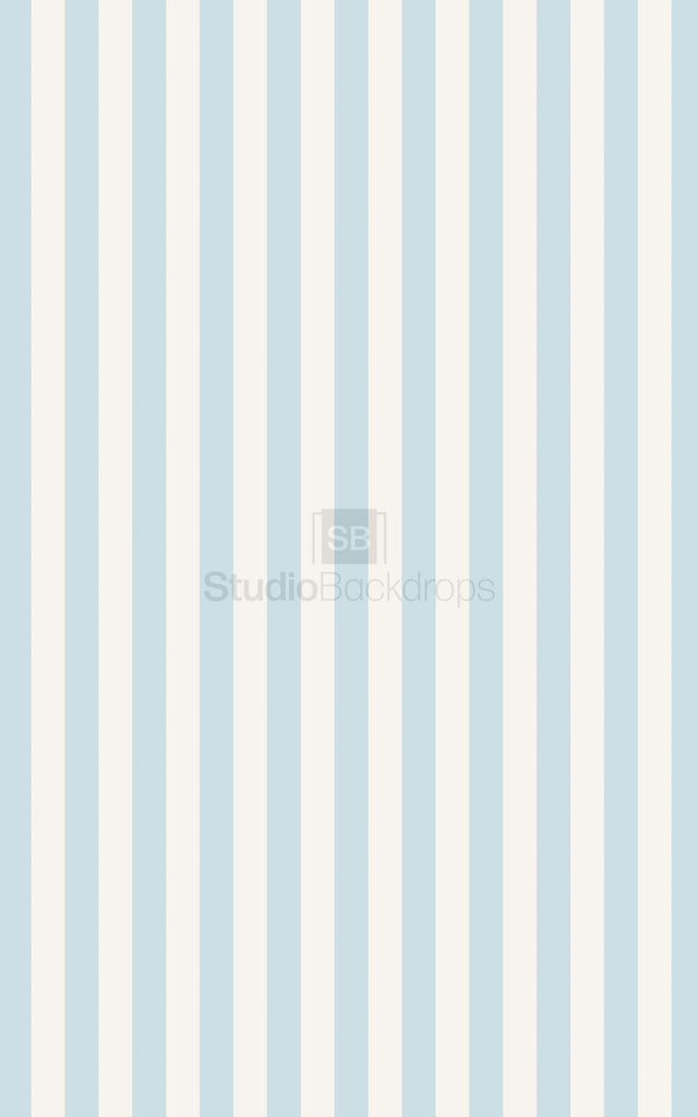 Blue Cream Stripe Photography Backdrop