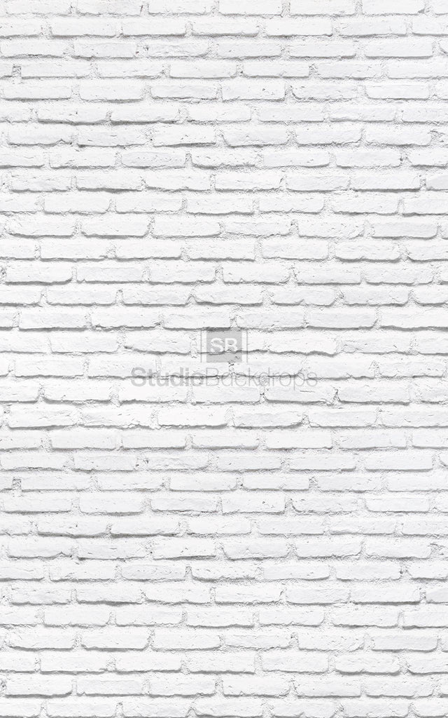 Painted White Brick Wall Photography Backdrop