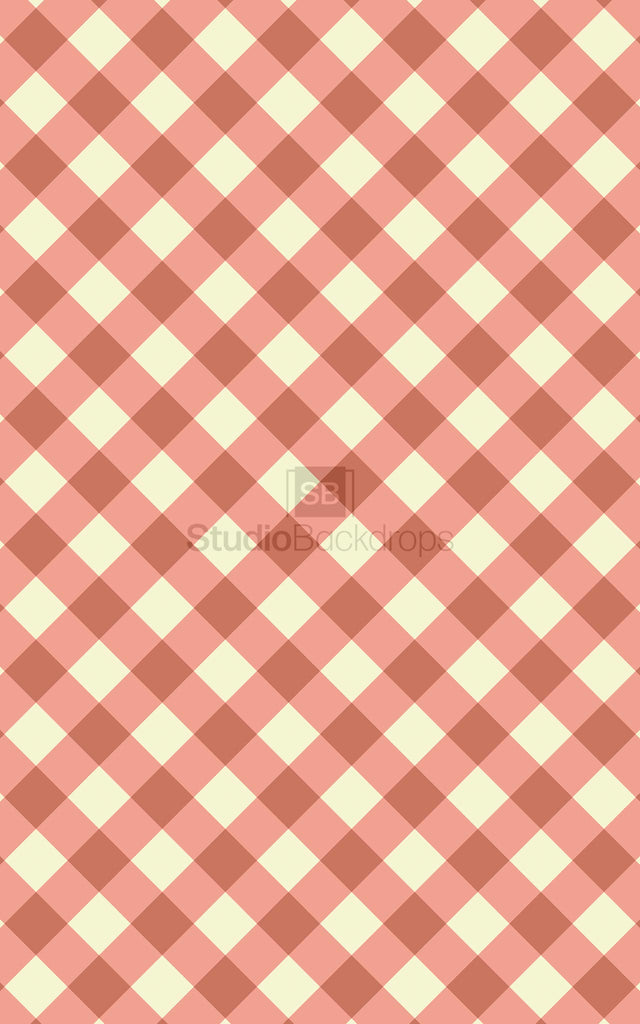Red Gingham Photography Backdrop