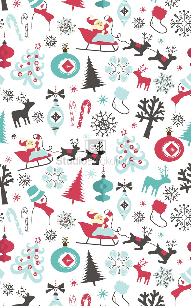 Christmas Wrap Photography Backdrop