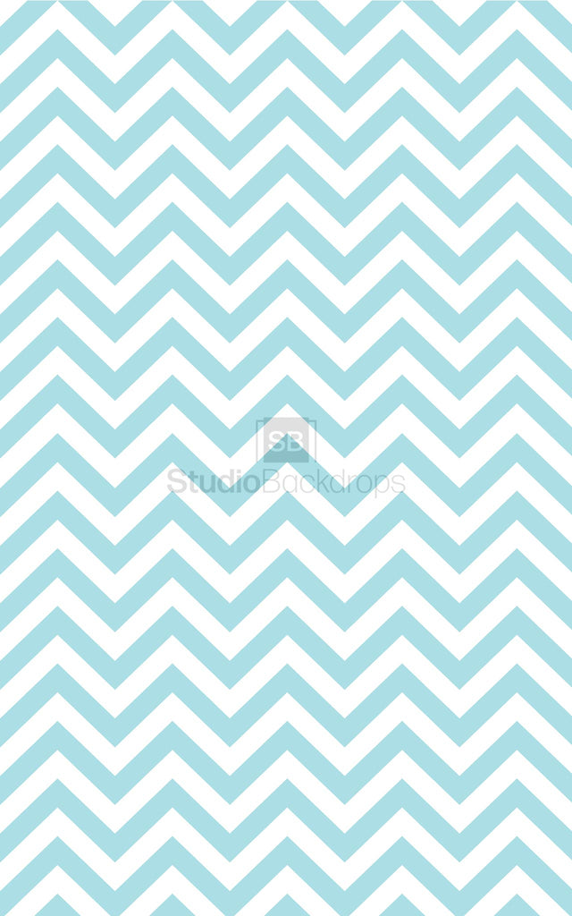 Blue Chevron Photography Backdrop