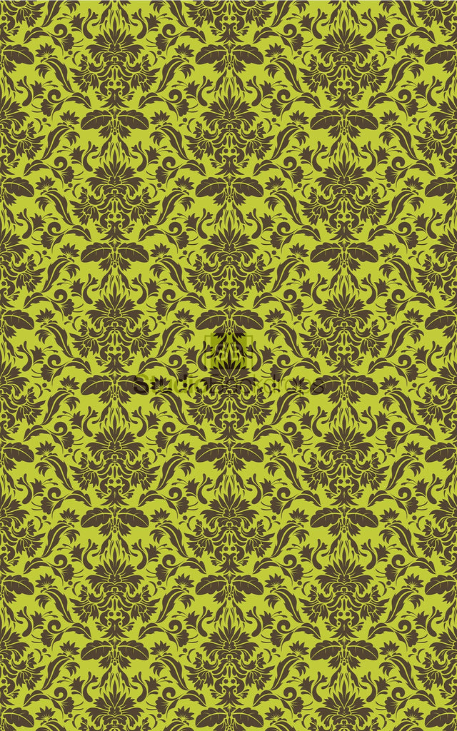 Green and Brown Damask Photography Backdrop