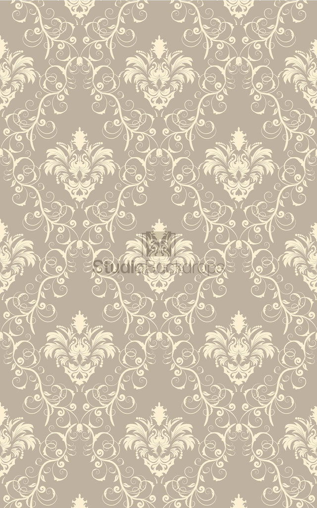 Grey and Cream Damask Photography Backdrop