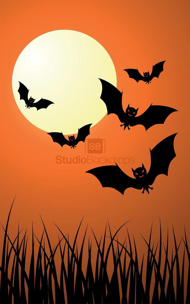 Halloween Moon Photography Backdrop