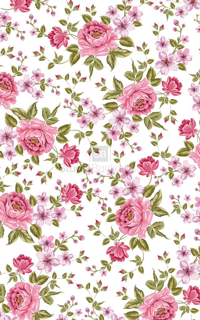 Floral Wallpaper Photography Backdrop Studio Backdrops