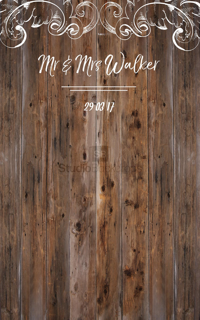 Personalised Wood Wedding Photo Booth Backdrop
