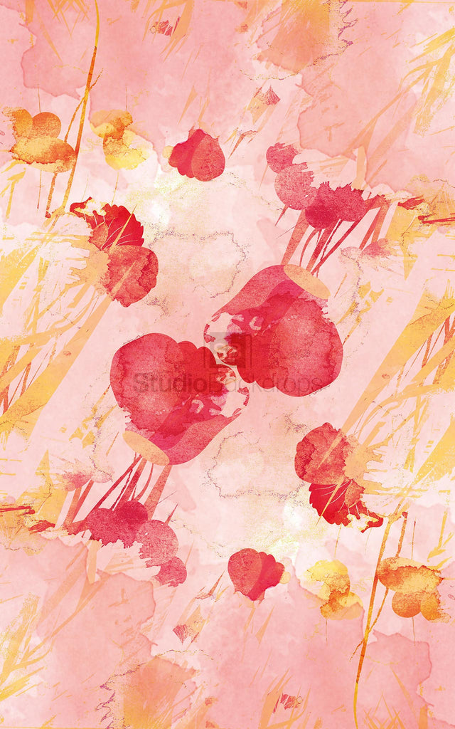 Watercolour Flowers Photography Backdrop