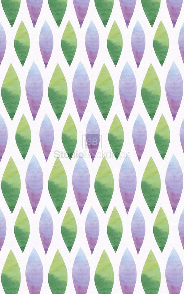 Green & Purple Pattern Photography Backdrop