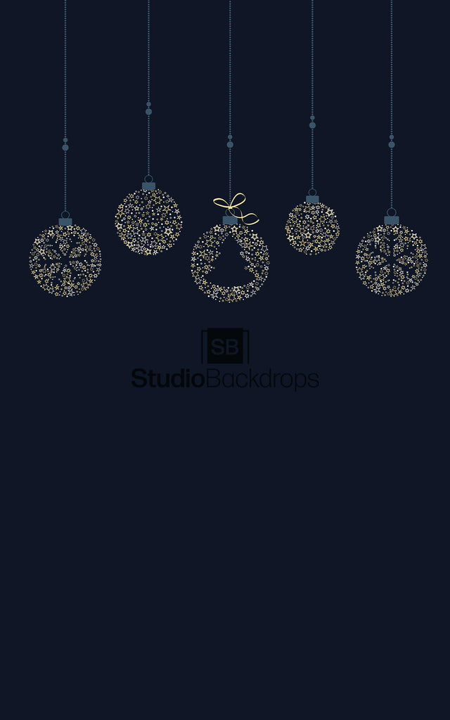 Christmas Baubles Photography Backdrop