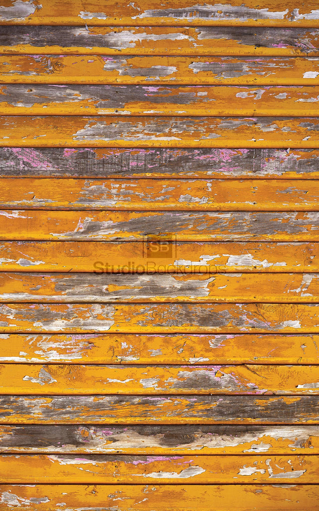 Yellow Faded Wood Photography Backdrop