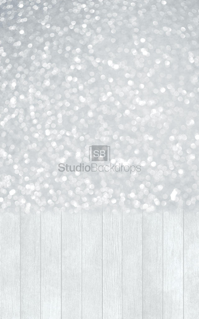 Grey Glitter Duo Faded Photography Backdro