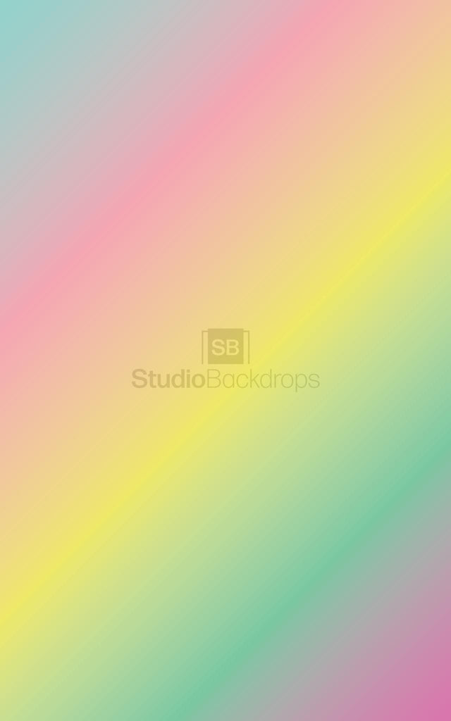 Unicorn Gradient Colours Photography Backdrop