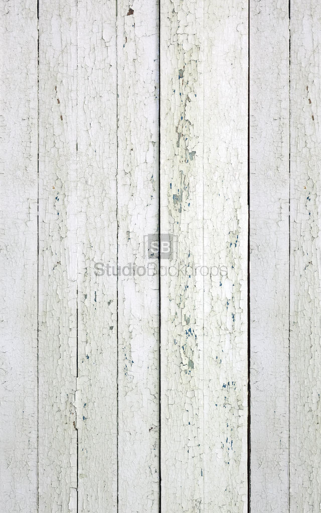 Peeling White Painted Wood Photography Backdrop