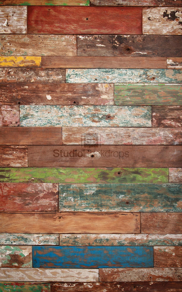 Mismatched Wood Photography Backdrop