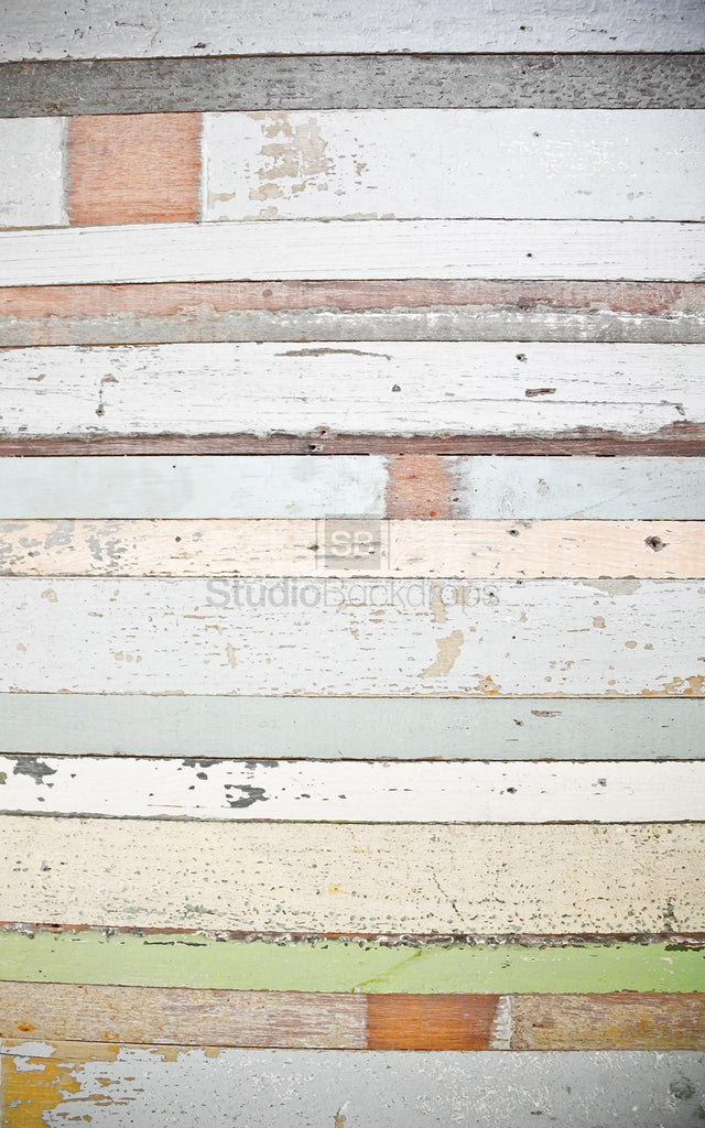 Mismatched Painted Wood Photography Backdrop