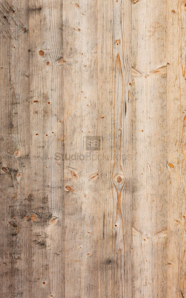Weathered Pine Wood Photography Backdrop