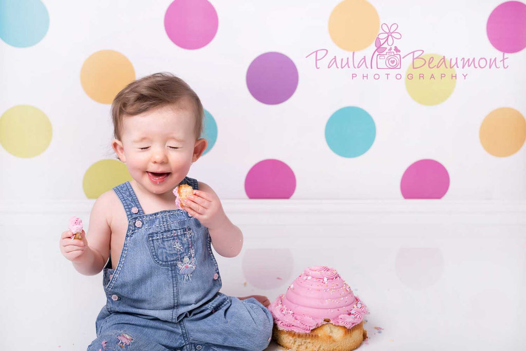 Multi Coloured Polka Dot Photography Backdrop
