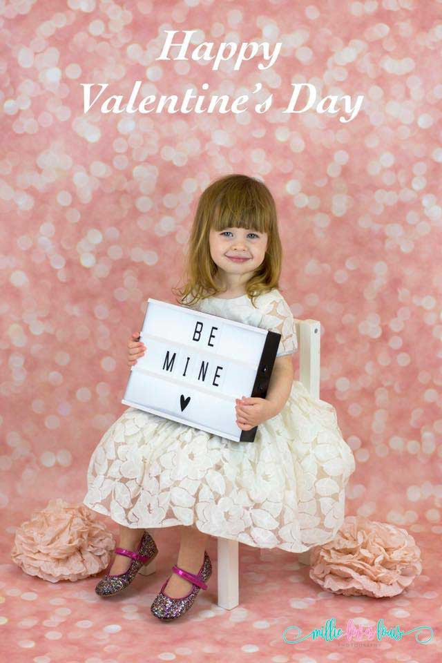 Pink Glitter Photography Backdrop in use