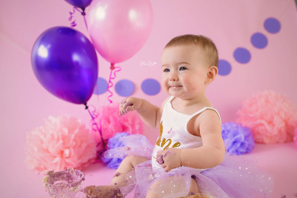 Baby Pink Photography Backdrop in use