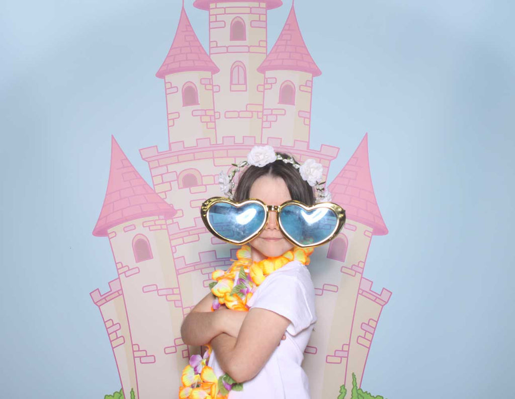 Fairy Tale Castle Photography Backdrop in use