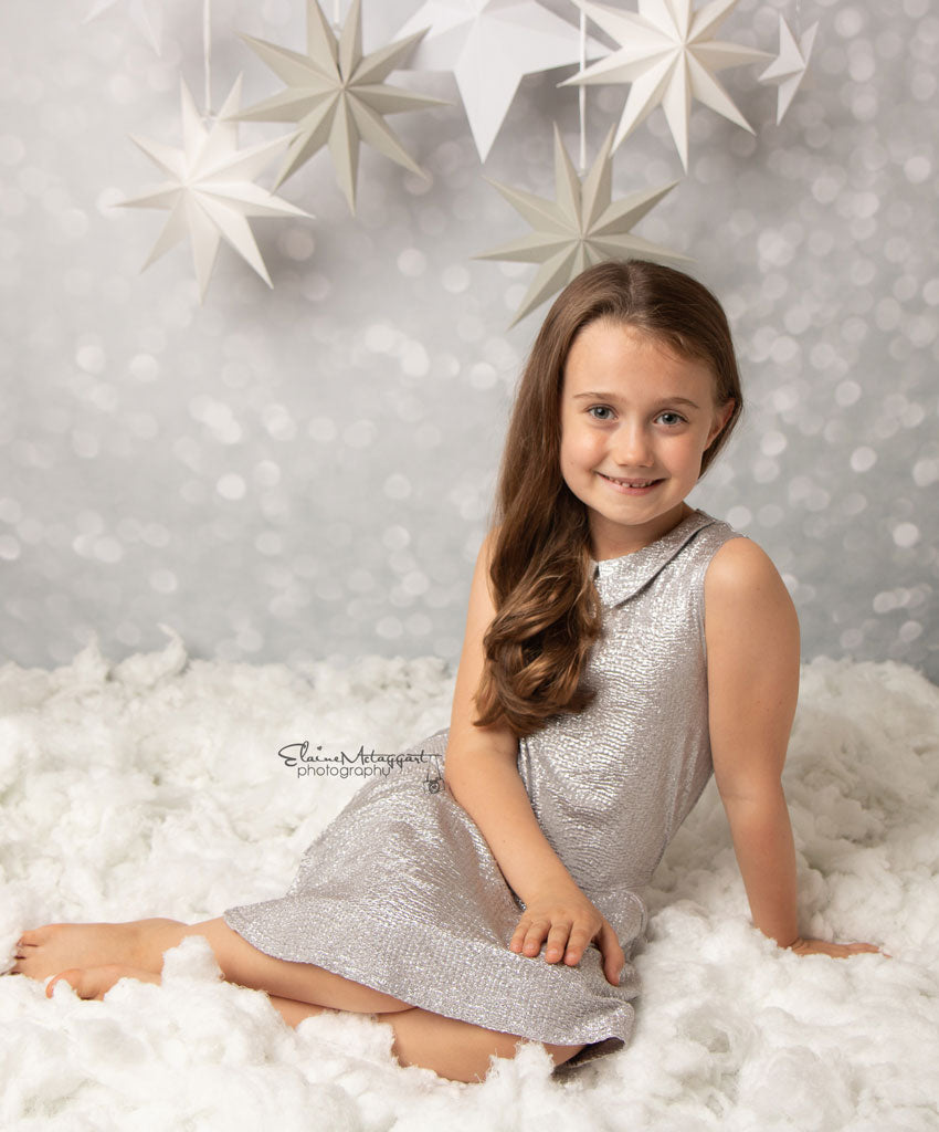 Grey Glitter Bokeh Photography Backdrop BD-233-BOK