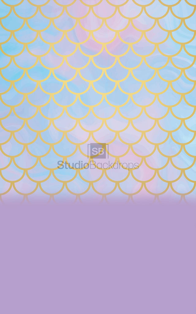 Mermaid Scales Duo Faded Photography Backdrop