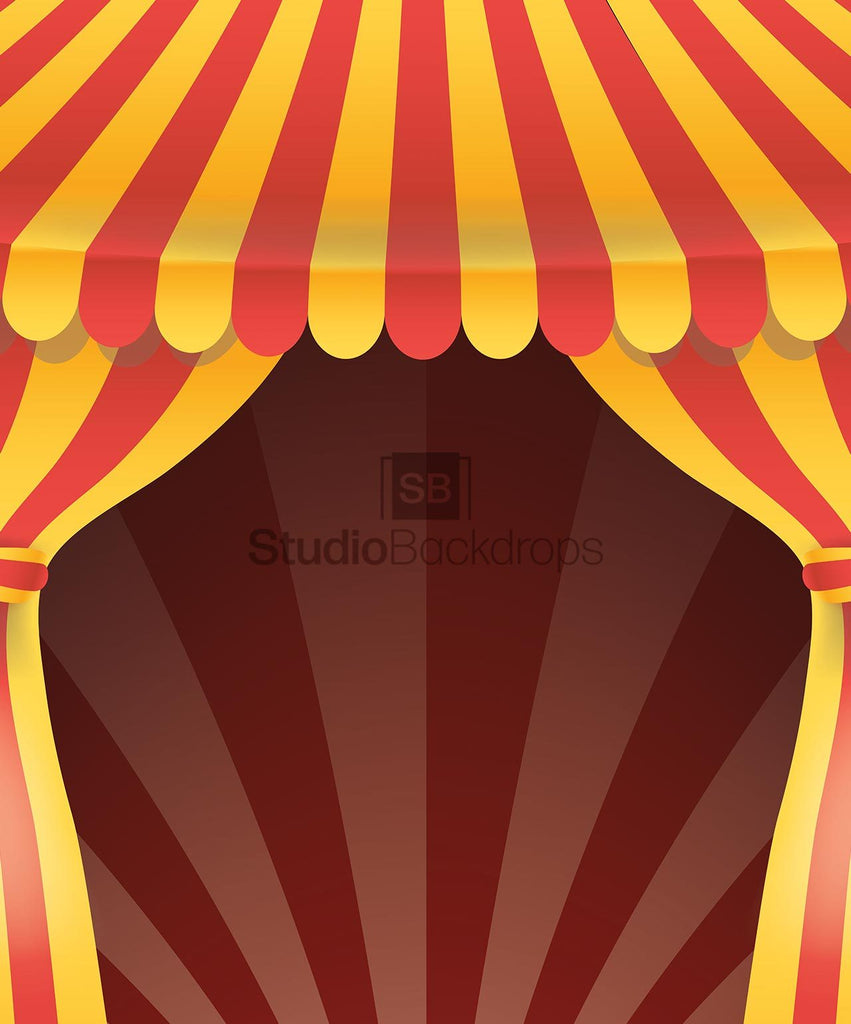 Circus Tent Curtains Photo Booth Backdrop BD-184-SCE