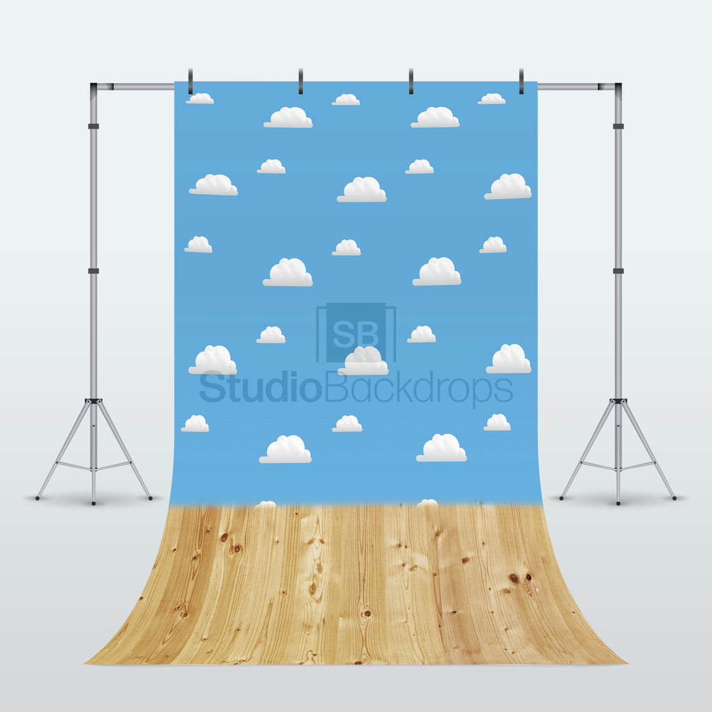 Toy Storybook and Wood Duo Faded Photography Backdrop
