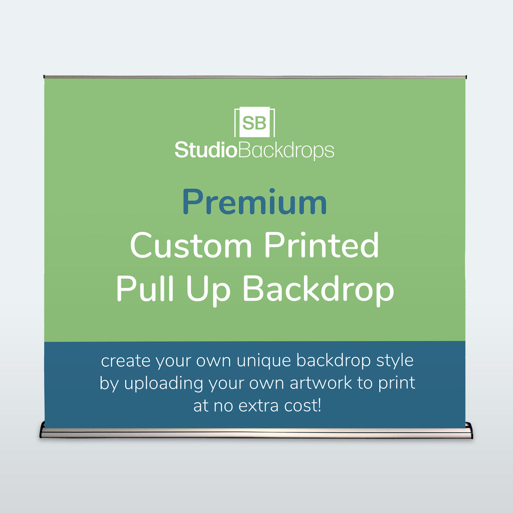 Custom Pull Up Backdrop Premium