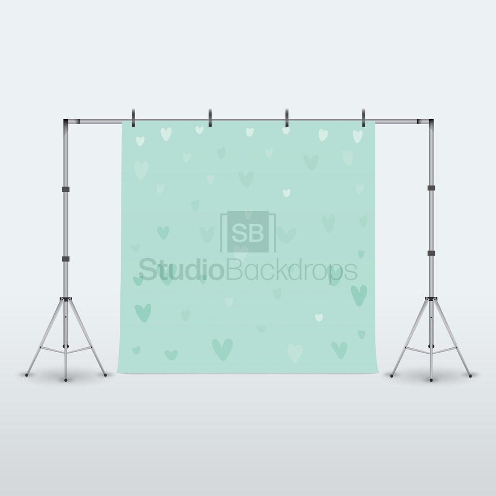 Scattered Hearts Photography Backdrop