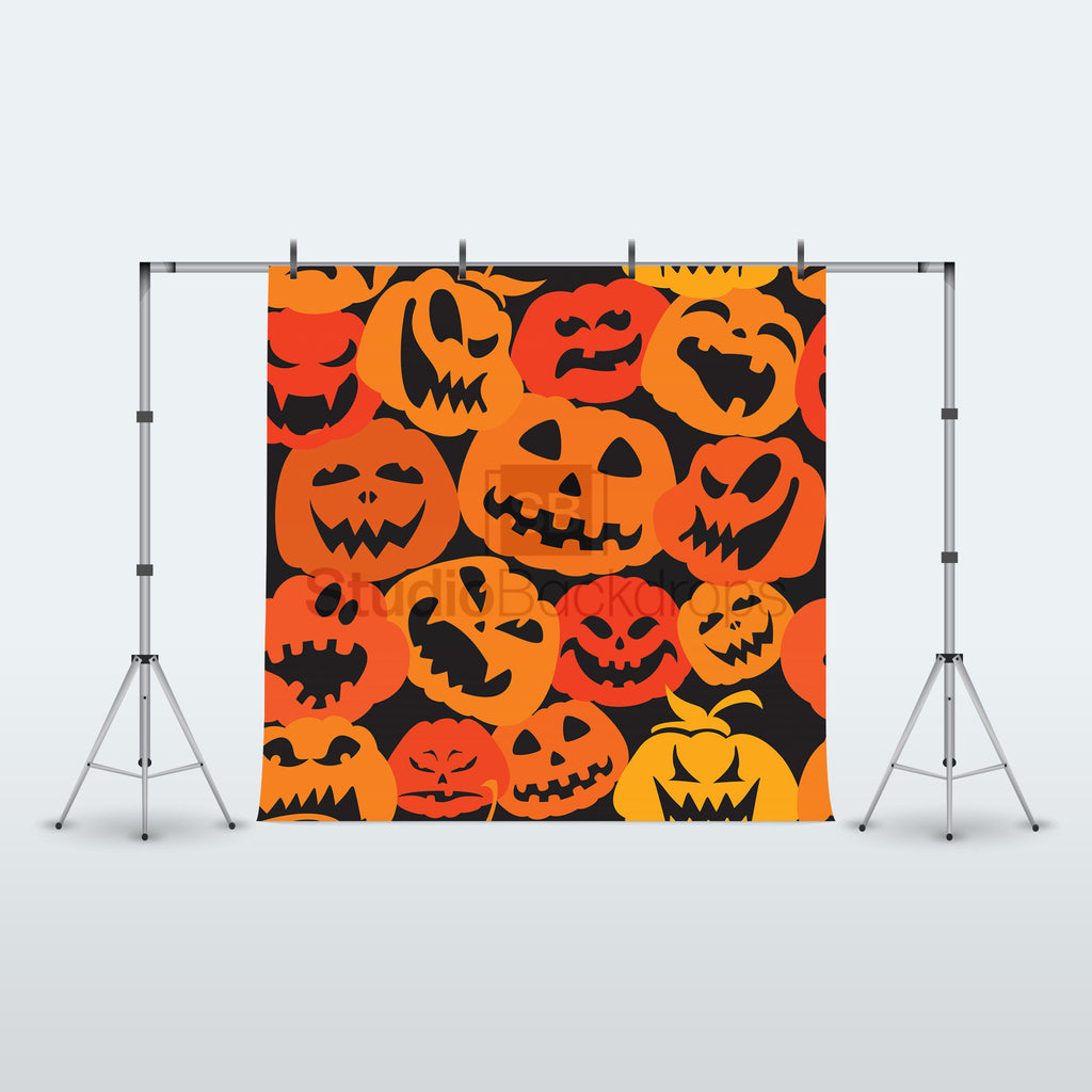 Halloween Pumpkins Photography Backdrop