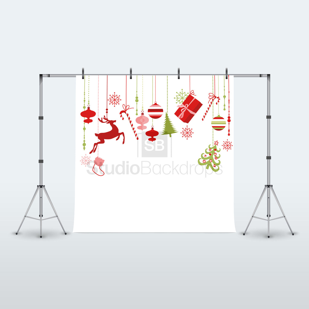White Christmas Decorations Photography Backdrop