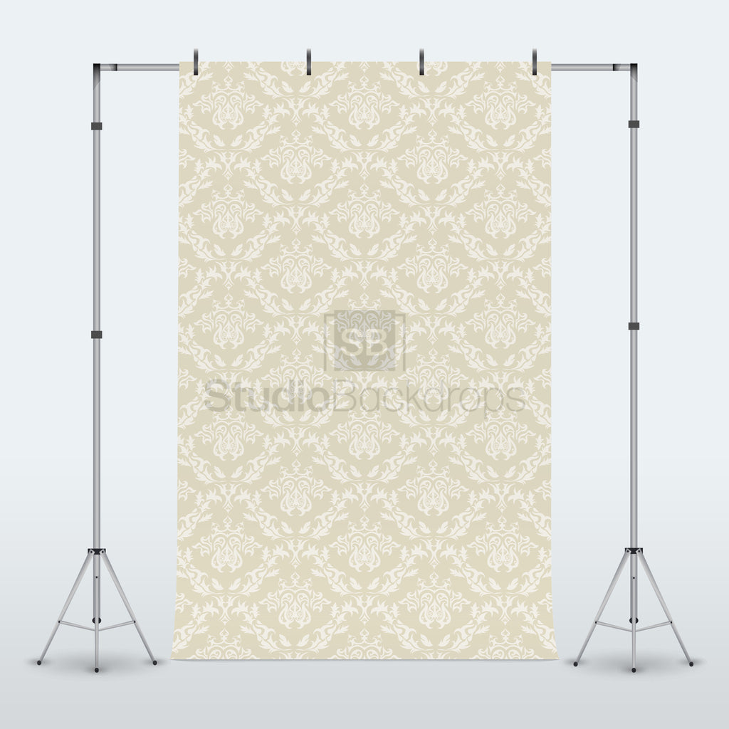 Cream Damask Photography Backdrop