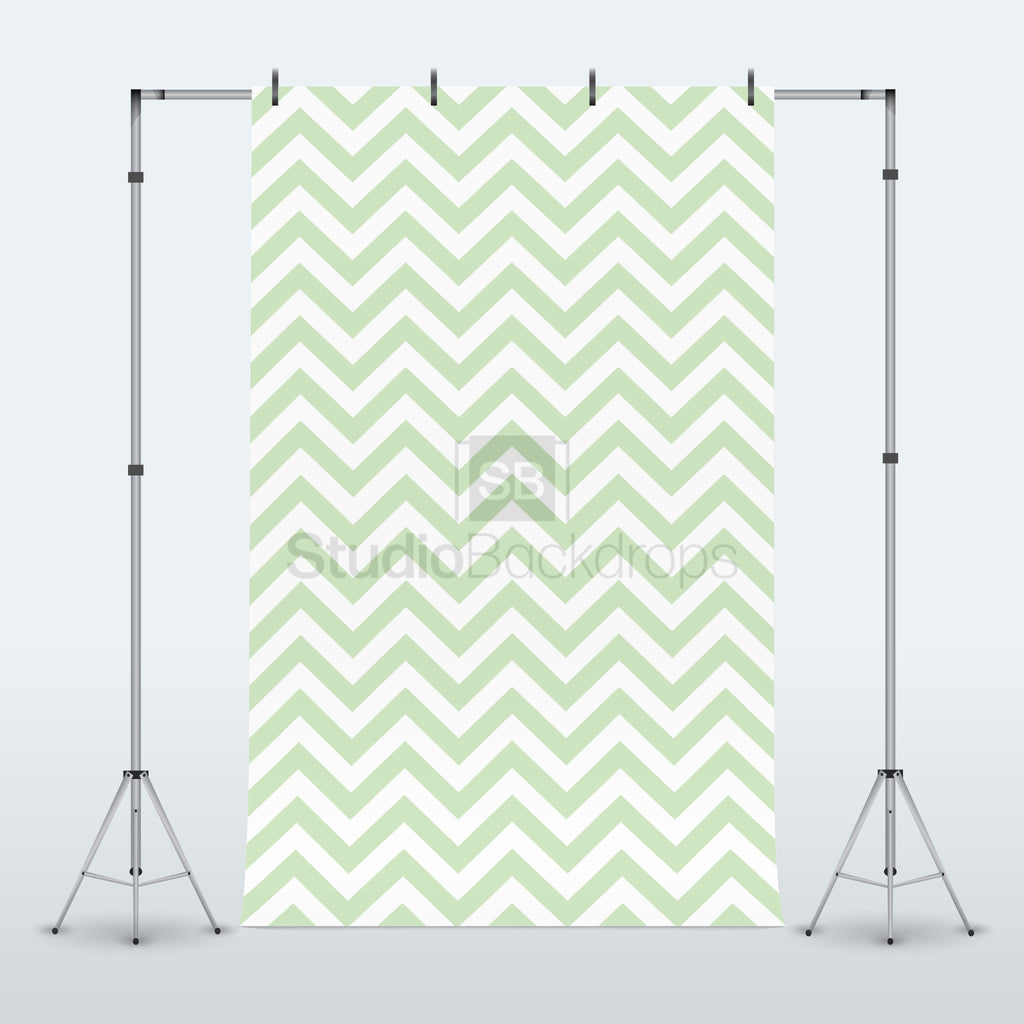 Green Chevron Photography Backdrop